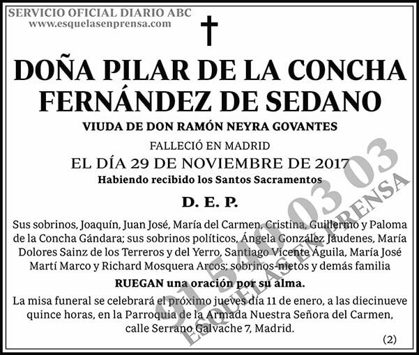 Pilar de la Concha Fernández de Sedano